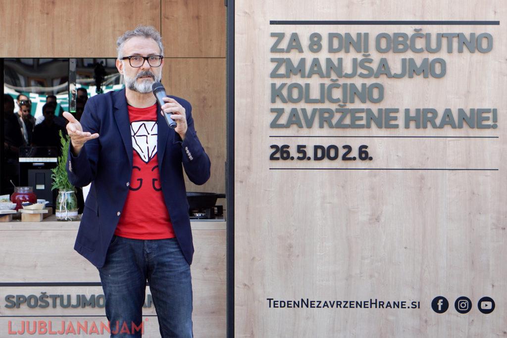 Massimo Bottura foodwaste Ljubljana